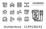 car service icon set. | Shutterstock .eps vector #1159138141