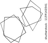 vector geometric form. isolated ...   Shutterstock .eps vector #1159143541