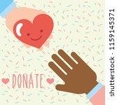 multiethnic hands heart love... | Shutterstock .eps vector #1159145371