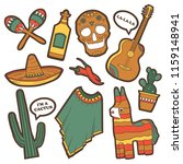 set of traditional mexican... | Shutterstock .eps vector #1159148941
