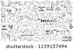 set of doodles on a theme...   Shutterstock .eps vector #1159157494