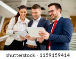 view at business partners... | Shutterstock . vector #1159159414