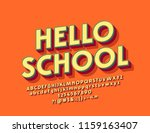 bright 3d font with text hello... | Shutterstock .eps vector #1159163407
