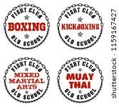 set of four emblems of martial... | Shutterstock .eps vector #1159167427