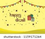 happy diwali concept design... | Shutterstock .eps vector #1159171264
