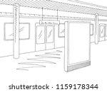 railway station platform train... | Shutterstock .eps vector #1159178344