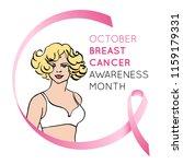 breast cancer awareness symbol. ... | Shutterstock .eps vector #1159179331