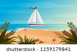 blue evening tropical sea and... | Shutterstock .eps vector #1159179841