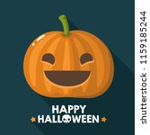 vector halloween pumpkin icon... | Shutterstock .eps vector #1159185244