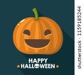 vector halloween pumpkin icon... | Shutterstock .eps vector #1159185244
