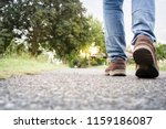 close up of boy shoes walking... | Shutterstock . vector #1159186087