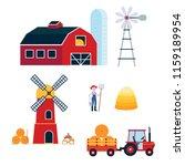 farming harvecting equipment... | Shutterstock .eps vector #1159189954