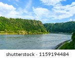 Small photo of Loreley rocks on the Rhine in Germany at Goarhausen