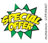special offer banner with the ... | Shutterstock .eps vector #1159196467