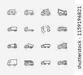 truck set of transport vector... | Shutterstock .eps vector #1159196821