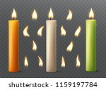 Set Of Burning Candles With...