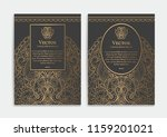 gold vintage greeting card on a ... | Shutterstock .eps vector #1159201021
