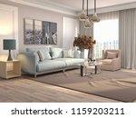 interior of the living room. 3d ... | Shutterstock . vector #1159203211