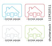 collection of bungalow homes... | Shutterstock .eps vector #115920511