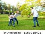 asian family enjoyed outdoor... | Shutterstock . vector #1159218421
