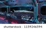 grunge spaceship blue and pink... | Shutterstock . vector #1159246594