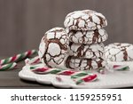 home baked peppermint and... | Shutterstock . vector #1159255951