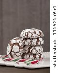 home baked peppermint and... | Shutterstock . vector #1159255954