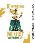 vector poster viva mexico 16... | Shutterstock .eps vector #1159259527