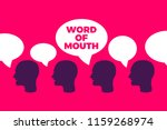word of mouth   organic spread... | Shutterstock .eps vector #1159268974