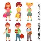 primary school kids. cartoon... | Shutterstock .eps vector #1159273621