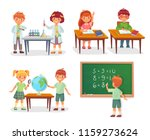 kids on school lesson. primary... | Shutterstock .eps vector #1159273624