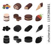 chocolate pasta  biscuit ...   Shutterstock . vector #1159286881