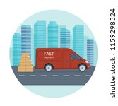 logistics and delivery service... | Shutterstock .eps vector #1159298524
