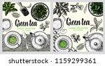 green tea card template for... | Shutterstock .eps vector #1159299361