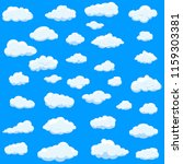 clouds set isolated on blue... | Shutterstock .eps vector #1159303381