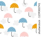 Cute Umbrella And Clouds...