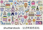 happy birthday to you  doodle... | Shutterstock .eps vector #1159305331