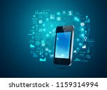 concept of online trading ... | Shutterstock .eps vector #1159314994