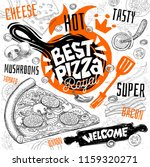 best pizza master restaurant... | Shutterstock .eps vector #1159320271