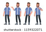 set of character a handsome... | Shutterstock .eps vector #1159322071