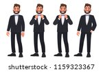 set of character a bearded man... | Shutterstock .eps vector #1159323367