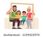 family portrait. dad  mom  son... | Shutterstock .eps vector #1159323574
