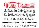 alphabet. calligraphic font.... | Shutterstock . vector #1159326754
