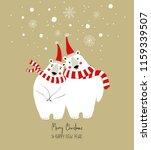 hand drawn christmas greeting... | Shutterstock .eps vector #1159339507