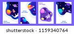 set of space banners. vector... | Shutterstock .eps vector #1159340764
