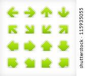 green arrow sign sticker on cut ... | Shutterstock .eps vector #115935055