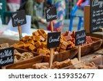 traditional british fudge on... | Shutterstock . vector #1159352677