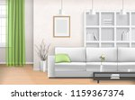 living room interior with sofa  ... | Shutterstock .eps vector #1159367374