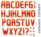 vector 3d stiker font part 1 2...   Shutterstock .eps vector #115936879