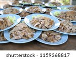 a stack of dish of duck stew in ...   Shutterstock . vector #1159368817